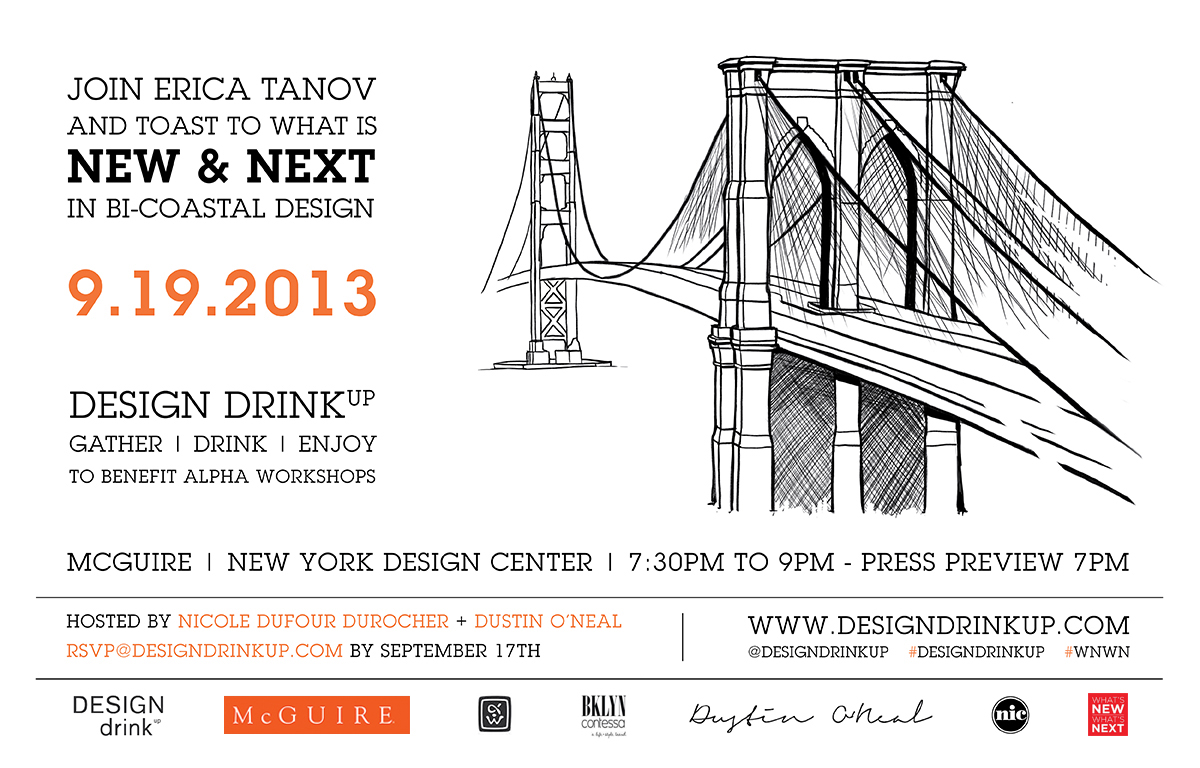 DESIGN drinkup Coast to Coast Invitation